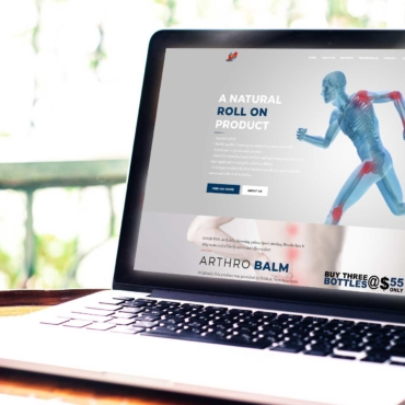 Arthrobalm eCommerce website